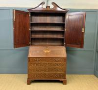 Georgian Inlaid Mahogany Bureau Bookcase (15 of 29)
