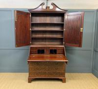 Georgian Inlaid Mahogany Bureau Bookcase (16 of 29)