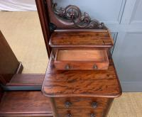 Victorian Mahogany Dressing Chest / Mirror (4 of 17)