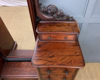 Victorian Mahogany Dressing Chest / Mirror (5 of 17)