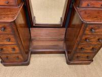 Victorian Mahogany Dressing Chest / Mirror (12 of 17)