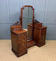 Victorian Mahogany Dressing Chest / Mirror (13 of 17)