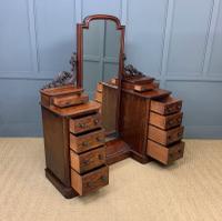 Victorian Mahogany Dressing Chest / Mirror (15 of 17)