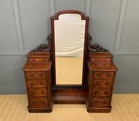 Victorian Mahogany Dressing Chest / Mirror