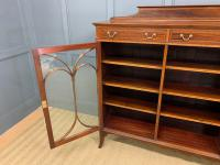 Inlaid Mahogany Bookcase by Maple & Co (4 of 21)