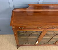 Inlaid Mahogany Bookcase by Maple & Co (5 of 21)