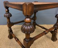 Carolean Style Walnut Stool (6 of 7)