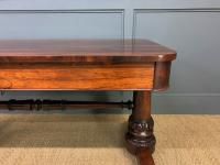 William IV Rosewood Library Stretcher Table (5 of 18)