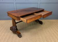 William IV Rosewood Library Stretcher Table (12 of 18)