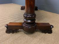 William IV Rosewood Library Stretcher Table (13 of 18)