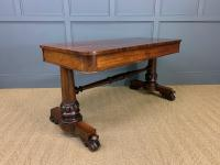William IV Rosewood Library Stretcher Table (8 of 18)