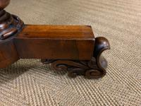 William IV Rosewood Library Stretcher Table (11 of 18)