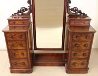 Victorian Mahogany Dressing Chest / Mirror c.1860 (3 of 14)