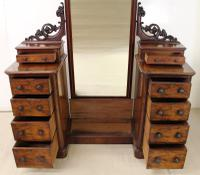 Victorian Mahogany Dressing Chest / Mirror c.1860 (6 of 14)