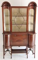 Elegant Edwardian Mahogany Display Cabinet c.1901