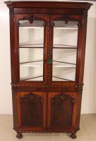 Large Victorian Mahogany Corner Cabinet (11 of 12)