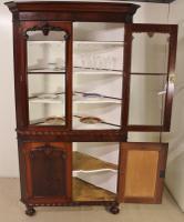 Large Victorian Mahogany Corner Cabinet (4 of 12)