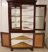 Large Victorian Mahogany Corner Cabinet (3 of 12)
