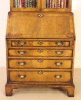 Dome Topped Walnut Bureau Bookcase c.1900 (13 of 18)