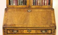 Dome Topped Walnut Bureau Bookcase c.1900 (12 of 18)