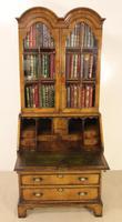 Dome Topped Walnut Bureau Bookcase c.1900 (11 of 18)