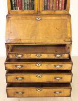 Dome Topped Walnut Bureau Bookcase c.1900 (8 of 18)