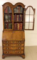 Dome Topped Walnut Bureau Bookcase c.1900 (4 of 18)