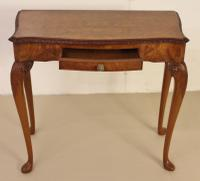 Burr Walnut Side Console Table c.1920 (11 of 13)