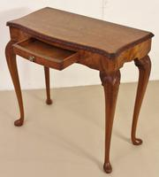 Burr Walnut Side Console Table c.1920 (5 of 13)
