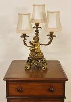 Excellent Gilt Bronze Table Lamp c.1870 (2 of 9)
