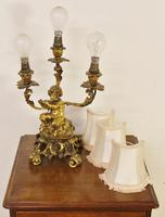 Excellent Gilt Bronze Table Lamp c.1870 (9 of 9)