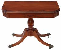 Georgian Mahogany Rosewood Folding Card Tea Console Table C.1810