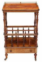 Victorian Aesthetic Burr Walnut Canterbury Whatnot C.1880