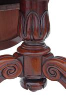Victorian 19th Century Rosewood Loo Breakfast Centre Table Tilt Top (16 of 17)