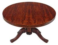 Victorian 19th Century Rosewood Loo Breakfast Centre Table Tilt Top (2 of 17)