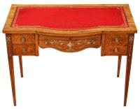 Victorian Inlaid Rosewood Desk Writing Dressing Table