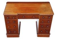 Victorian Mahogany Desk Writing Dressing Table Twin Pedestal (2 of 8)