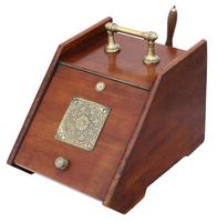Art Nouveau Mahogany Perdonium Coal Scuttle Box c.1910