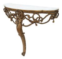 19th Century Gilt Marble Demi-Lune Console Table (3 of 8)