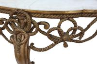 19th Century Gilt Marble Demi-Lune Console Table (4 of 8)