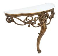 19th Century Gilt Marble Demi-Lune Console Table (5 of 8)