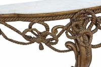 19th Century Gilt Marble Demi-Lune Console Table (6 of 8)