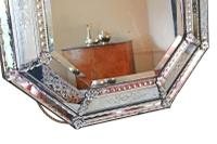 19th Century Large Quality Venetian Glass Overmantle or Wall Mirror (6 of 8)