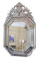 19th Century Large Quality Venetian Glass Overmantle or Wall Mirror (8 of 8)