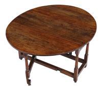 18th Century Oak Gate-Leg Drop Leaf Dining Table (8 of 9)