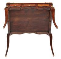 Small 19th Century Marquetry Cylinder Bureau Desk (2 of 9)