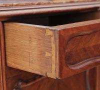 French Walnut Marble Bedside Table / Cupboard / Cabinet C.1920 (3 of 8)