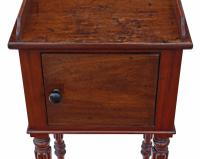 Mahogany Bedside Table / Cupboard / Cabinet (3 of 9)