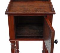 Mahogany Bedside Table / Cupboard / Cabinet (7 of 9)