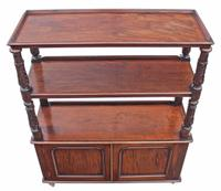 Victorian 19th Century Carved Buffet Serving Table / Side Table / Sideboard